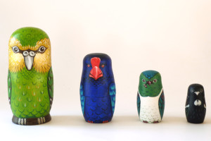 New Zealand Bird Nesting Dolls