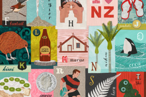 New Zealand Alphabet Gift Wrap