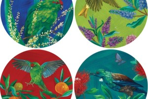 NZ Birds Melamine Plates
