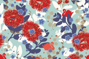 'Pohutukawa and Swans' Gift Wrap