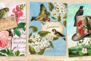 NZ Vintage 'Botany' Cards