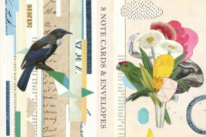 NZ vintage collage note cards