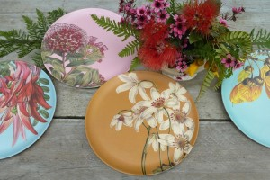 NZ Vintage Flower Eco Plates