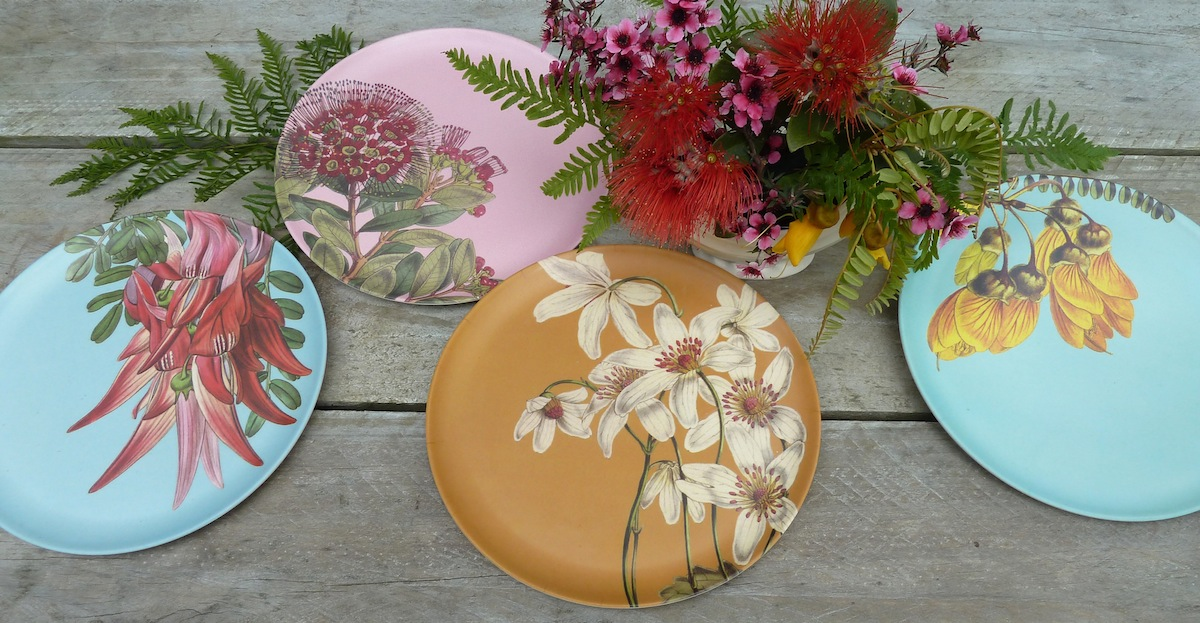 Live Wires NZ Ltd have released a new series of four picnic plates made of eco bio-degradable bamboo fibre. The designs feature vintage New Zealand ... & NZ Vintage Flower Eco Plates - Wolfkamp u0026 Stone