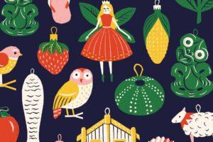 Kiwiana Christmas Ornament Gift Wrap