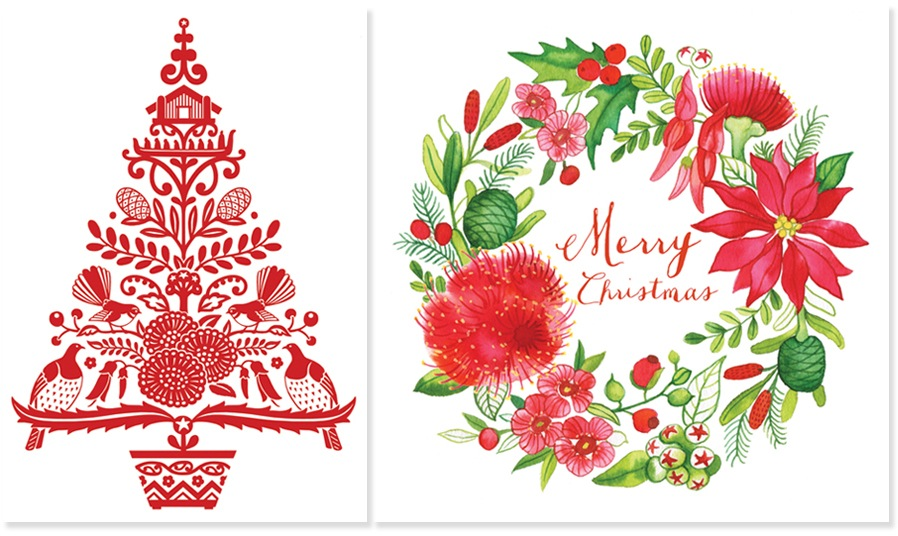 NZ Christmas cards 2015 - Wolfkamp & Stone