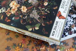 NZ vintage botanical 1000 peice puzzle by Tanya Wolfkamp