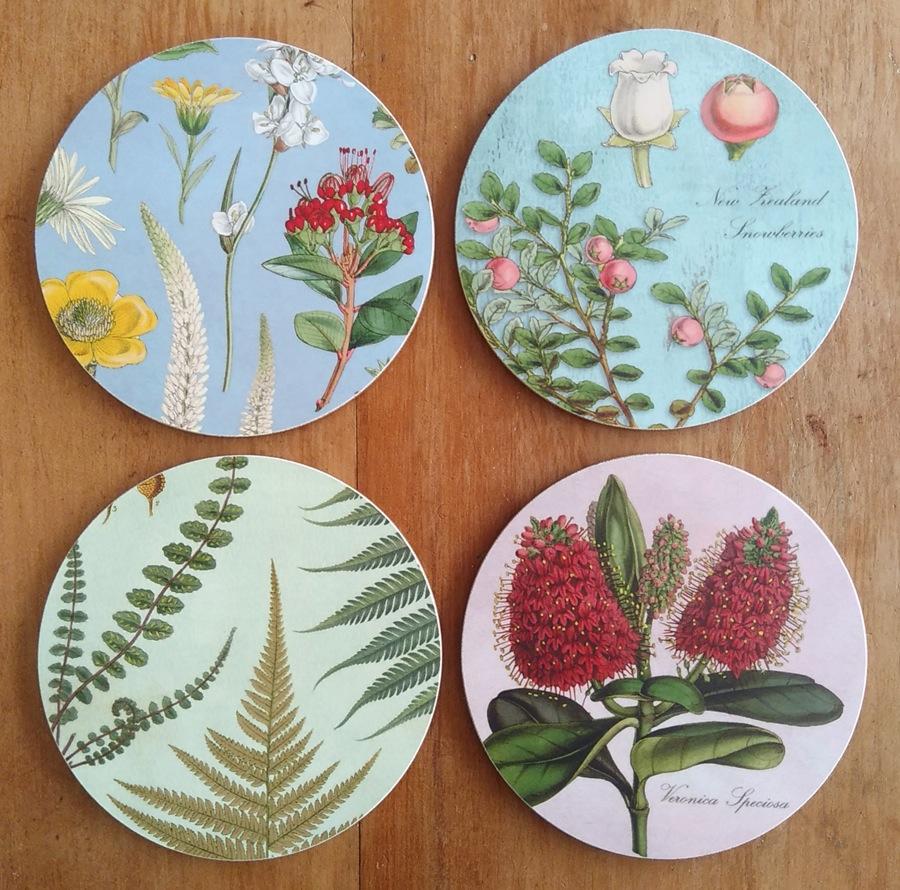 2020 NZ botanical spring coaster collection