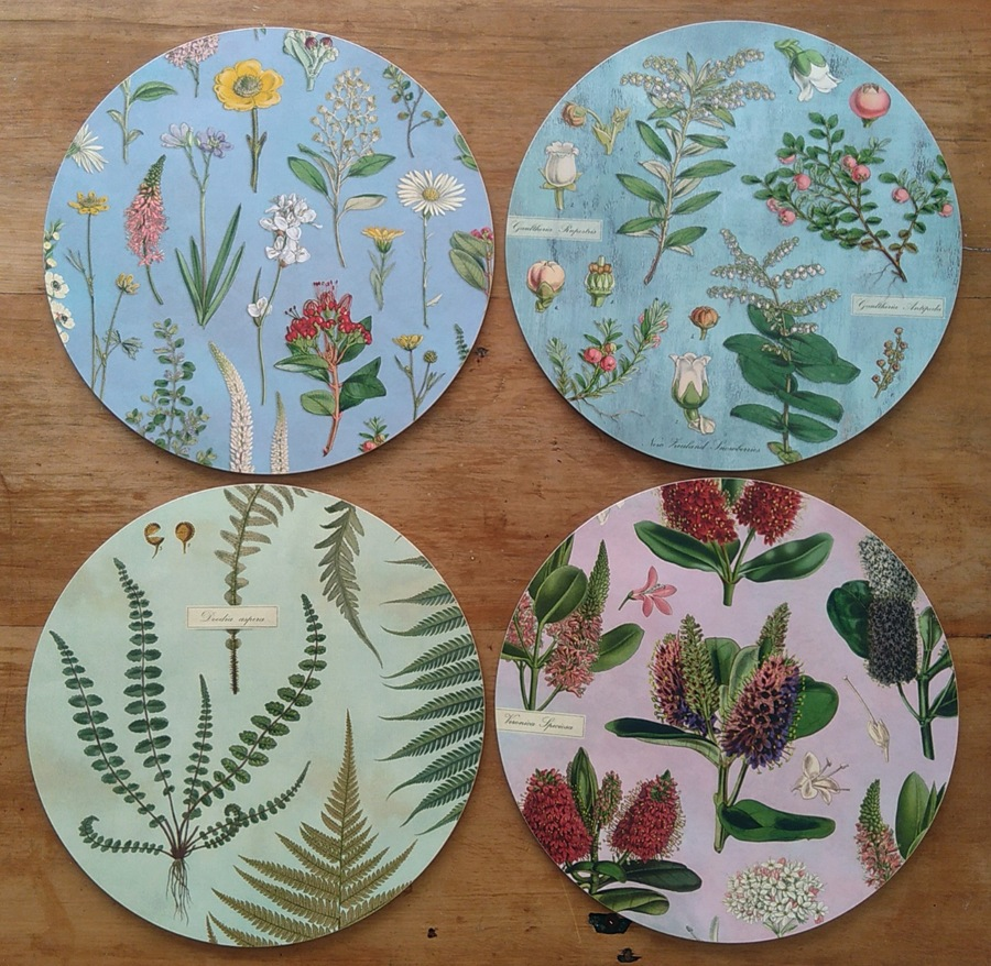 New Zealand botanical placemats collections by Tanya Wolfkamp