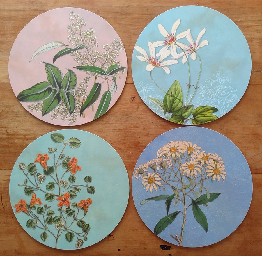 NZ native flower Spring placemat collection by Tanya Wolfkamp
